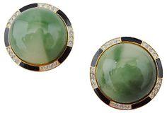 Kenneth Jay Lane Cabochon Earrings on OneKingsLane.com