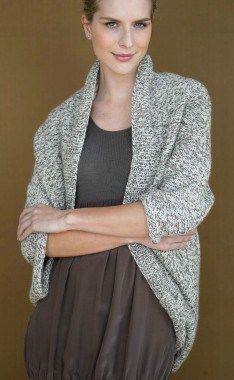 Free knitting pattern for Speckled Shrug and other easy shrug knitting patterns
