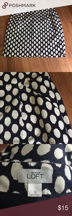 Loft Polka Dot Skirt 12 Loft Polka Dot Skirt 12 nwot, Navy and White, never worn LOFT Skirts