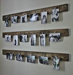 drei Reihen von schwarz-weißen Fotos