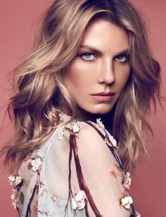 angela lindvall photo shoot9 Angela Lindvall Embraces Florals in Elle Russia Shoot by Xavi Gordo