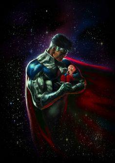 Jor-El and Baby Kal-El.