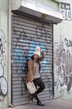 Daily Outfit - Turtle neck & camel coat in Brooklyn   Ashka Shen for Xssat Street Fashion