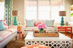 Sala con acentos Naranja