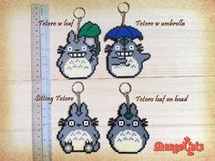 Totoro hama bead sprites by MangoCats
