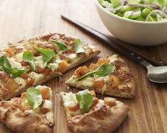 Butternut Squash and Arugula Pizza