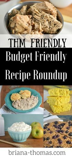 """This THM friendly, budget friendly recipe roundup has 37 recipes from Briana-Thomas.com!  Find out how to make your own baking mix, Greek yogurt, bread, iced coffee, mock """"Blizzard"""", and more!"""