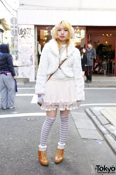 Cute Panda Purse, Polka Dots & Striped Socks in Harajuku