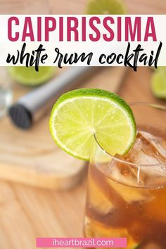 Looking for a refreshing white rum cocktail? This Brazilian mixed drink is perfect for warm evenings. Brazilian Drink, Brazilian Cocktail, Brazilian Fruit, Brazilian Recipes, Spring Cocktails, Summer Drinks, Easy Drink Recipes, Cocktail Recipes, Party Food And Drinks