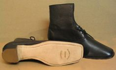 Lady's Black Balmoral boots made and sold by Robert Land