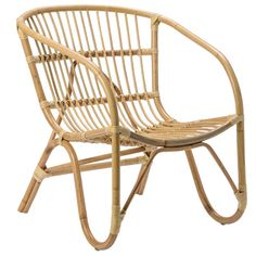 Features:  -Material: Rattan.  -Color: Natural.  -Contemporary style.  Frame Finish: -Natural.  Frame Material: -Rattan/Wicker.  Arm Material: -Rattan/Wicker. Dimensions:  Overall Height - Top to Bott