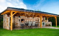 I like - Album uživatelky adec Backyard Pavilion, Backyard Bar, Backyard Kitchen, Backyard Patio Designs, Pergola Patio, Backyard Landscaping, Outdoor Kitchen Bars, Outdoor Kitchen Design, Outdoor Rooms