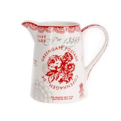 Green Gate Fay jug red