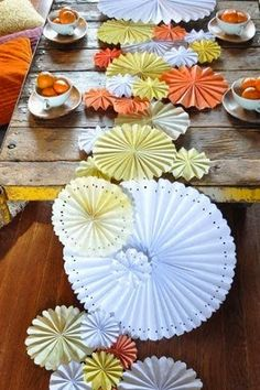 whimsical wedding table runners