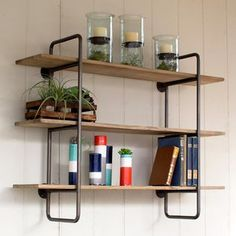 Rustic Symmetry Shelf / Dot&Bo / would be good for open shelving in kitchen for white dishes