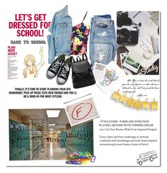 """""""School"""" by smajicelma ❤ liked on Polyvore featuring Fuji, Casetify, WithChic and Converse"""