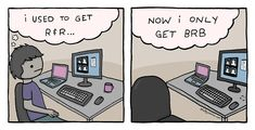 """As in, """"I gotta hide under my desk for a few minutes, BRB"""" #workingfromhome #comics #pandemiclife"""