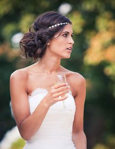 The Easy Chignon. Chignon Hair, Prom Hair Updo, Hair Dos, Chignon Headband, Easy Chignon, Coiffure Hair, Messy Updo, Messy Hair, Wedding Hair And Makeup