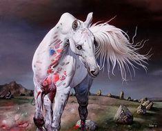 Impressioni Artistiche : ~ Dragan Ilic Di Vogo ~ Horse Drawings, Art Drawings, Horse Artwork, Academic Art, Magic Realism, Painted Pony, Equine Art, Western Art, Skull Art