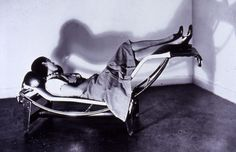 Charlotte Perriand on original LC4 Chaise-longue    By Le Corbusier, Jeanneret, Perriand. Designed 1928