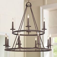 """Quoizel Voyager 36"""" Wide Malaga Chandelier"""