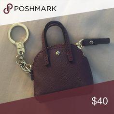 Kate Spade Maise Keychain, Burgundy Kate Spade Maise Keychain. Can hold coins. kate spade Accessories Key & Card Holders