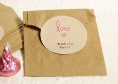 Round Favor Labels - Kraft Paper Favor Stickers - Custom Wedding Labels - Gift Labels - Wedding Favor Label on Etsy, $11.25