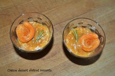 Crème dessert abricot romarin