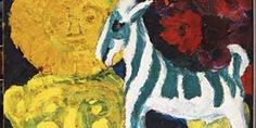 Emil Nolde Striped Goat with Bronze Figure - Nolde Stiftung Seebüll, Berlin Emil Nolde, Amedeo Modigliani, Edvard Munch, Wassily Kandinsky, Post Impressionism, Impressionist, Art Magazin, James Ensor, Paintings