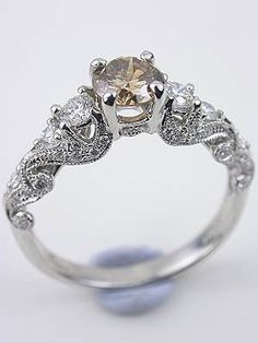 Champagne Diamond Engagement Ring, RG-1750f