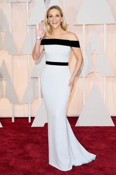 Actress Reese Witherspoon in a custom Tom Ford gown as she attends the 87th Annual Academy Awards.