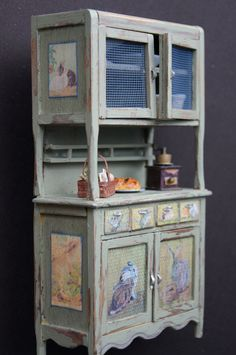 how to: shabby hutch (with bunny printables)