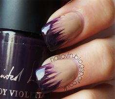 Totally Nailed - Feathered effect. #NailArt