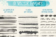 51 free vector brushes from Anna Ivanir. More similar brushes items here! With this freebie you get: vector brushes (*.ai files) very easy to customize and edit in Adobe Illustrator use for persona...
