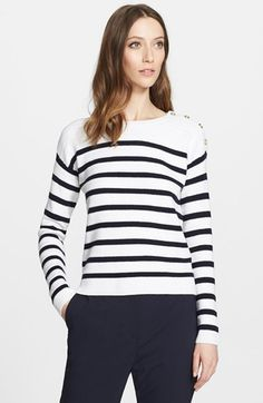 Nordstrom Signature and Caroline Issa Stripe Cashmere Sweater available at #Nordstrom
