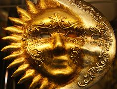 Sun & Moon venetian mask