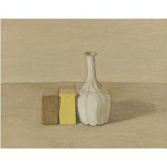 Giorgio Morandi (1890 - 1964)   Natura morta, 1954, olio su tela. Photo: Sotheby's.