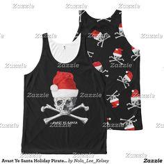 Avast Ye Santa Holiday Pirate Skull All-Over Print Tank Top