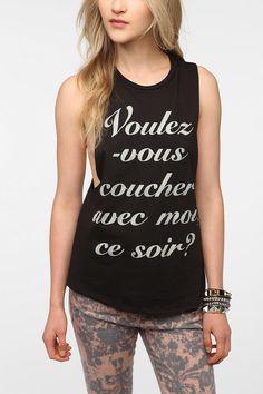 Corner Shop Voulez-Vous Muscle Tee #UrbanOutfitters