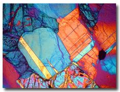 Meteorite, Morocco, 2007 - NWA 5000 (Lunar Highlands) Thin Section in Cross Polarized Light. Abstract Pattern, Abstract Art, Tom Phillips, Microscopic Photography, Vision Photography, Natural Structures, Rocks And Minerals, Science And Nature, Textures Patterns