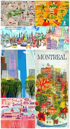 Maps and City Illustrations