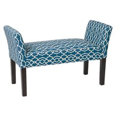 Features:  -Kelsey collection.  -Finish: Dark espresso.  -Solid wood legs.  -Pattern: Abby geo.  -Covered in a high performance, easy care fabric.  -Attractive and comfortable.  Bench Type: -Kitchen b