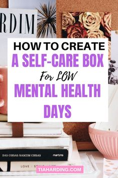 How to create a self-care box for low mental health days. Creating an emergency self-care box for your mental health could stop the spiral and uplift your mood. Plus it makes regular self-care easy. Mental Health Journal, Mental Health Day, Mental Health Disorders, Brain Health, Battling Depression, Overcoming Depression, Psych, Metal Health, Types Of Stress