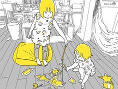 #こどもとうちで過ごそう 08 たくさん届くダンボールをはさみで切って、 海の生き物をクレヨンで描いて釣り遊び。 Lisa Simpson, Fictional Characters, Fantasy Characters