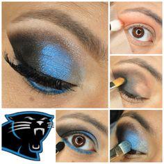 Carolina Panthers Eyeshadow Inspiration - #eyetutorial #bluetutorial #eyemakeup