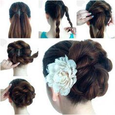 Braided  rope Bun-Hairstyle