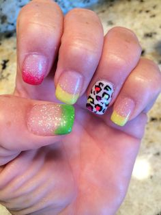Cheetah Summer Nails