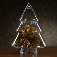 Clear Glass Christmas Tree Jar