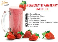 Try the Juice Plus+ Complete Heavenly Strawberry Smoothie! #Strawberry #Carrot…