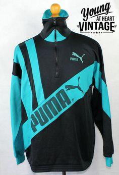 Men's vintage 80's PUMA tracksuit jacket. Urban renewal. #vintage #tracksuit #puma #urban